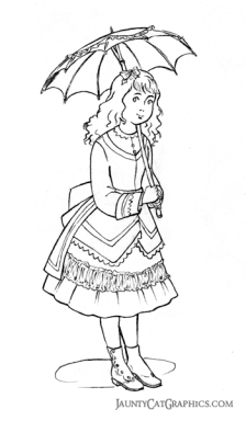 Little Girl's Bustle