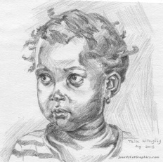 """9""""x4"""" Graphite on paper; By: Taisa Willoughby"""