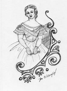 woman motif-ink