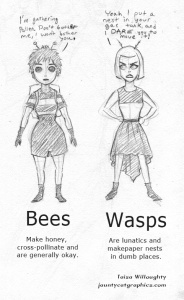 bee and wasp