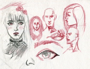 red sketches
