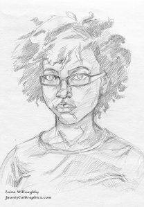 self portrait pencil sketch
