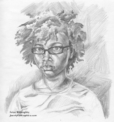 """9""""x8"""" Graphite on paper; By: Taisa Willoughby"""